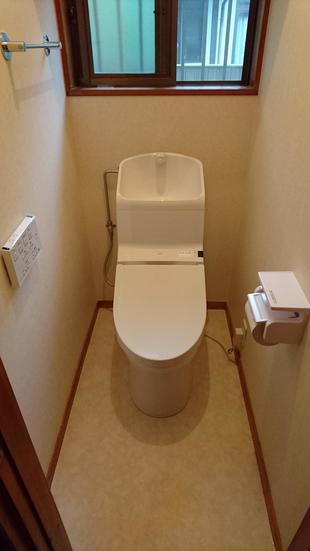 シンプルなトイレリフォーム工事
