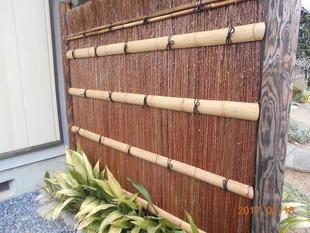 蕨市 竹垣の修繕