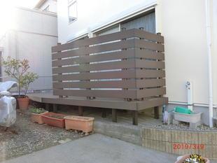藤沢市I様邸 木製ウッドデッキを樹脂製デッキに交換(杉山)
