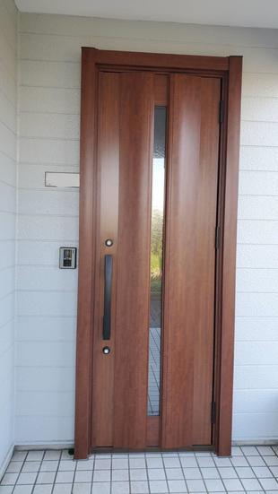 冬あったかリノベーション① 家の顔の玄関ドアを交換