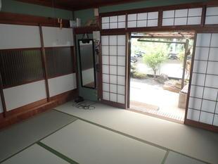 畳の入替え~玄関の土間など リフォーム