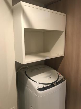 洗濯機上収納リフォーム