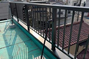 千葉市中央区 台風で倒壊した屋上手摺の交換