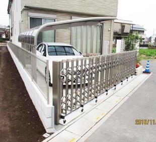 駐車場ゲートの新設工事